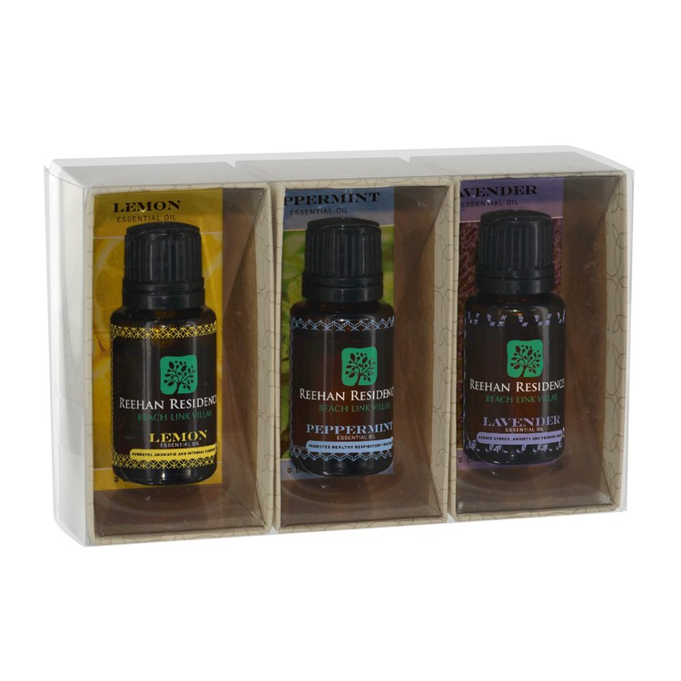 Dropper Bottles 15mL Essential Oil Gift Set - 3 Piece Box