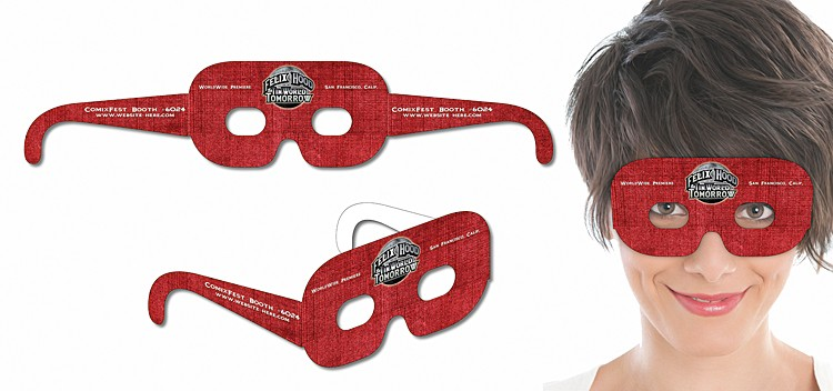 Mask Glasses - UV-Coated (1S) Extra-Thick Paper - 16.25x3.25 - 14 pt.