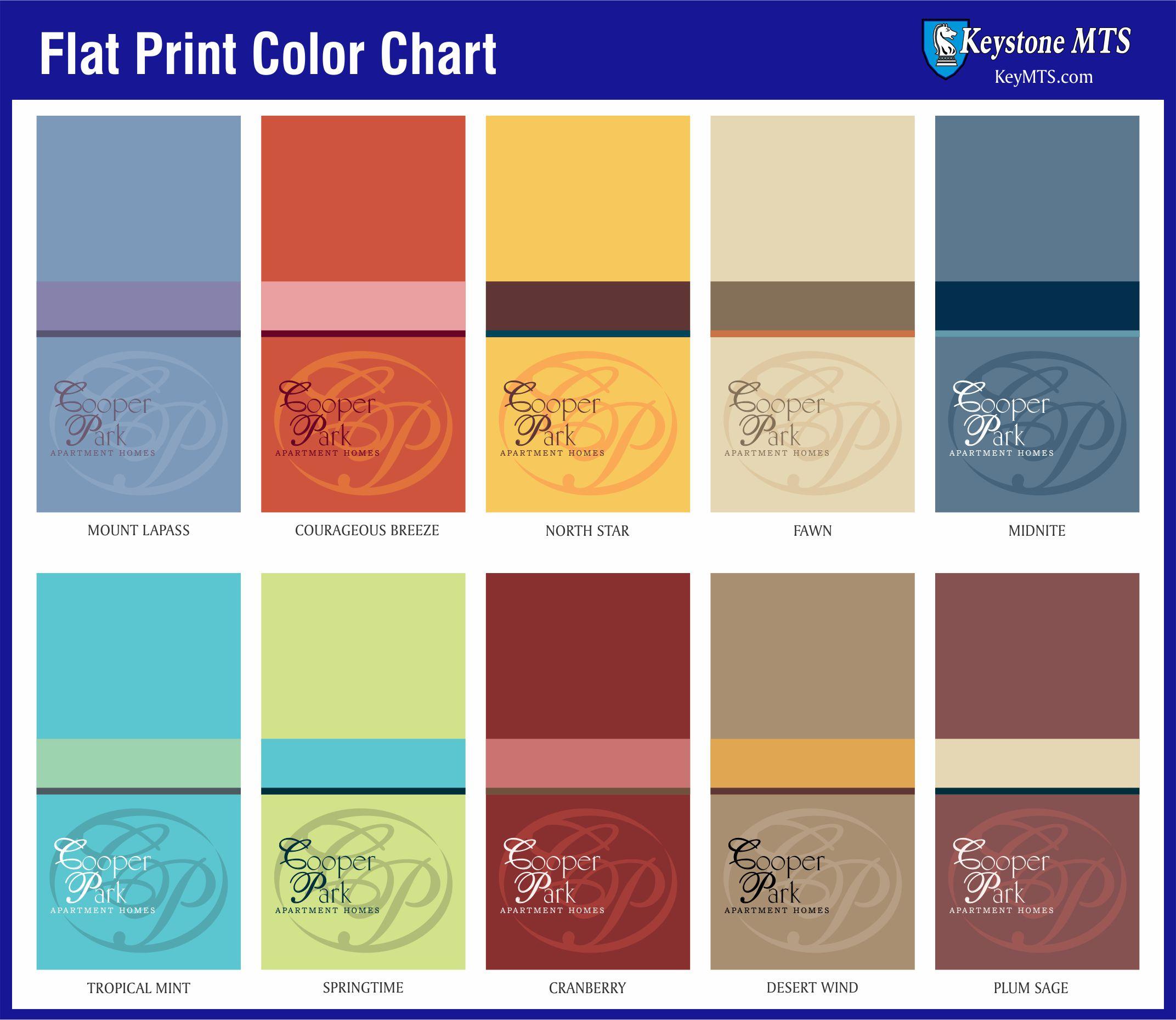 Brochure Color Chart