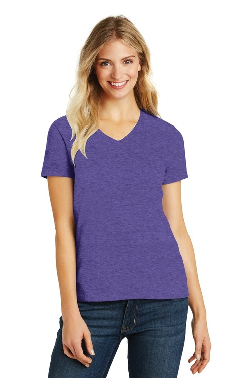 District Made Ladies Perfect Blend V-Neck Tee.