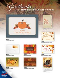 Thanksgiving Greeting Card Flyer with Early Order Pricing
