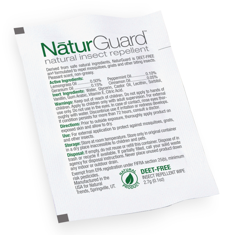 Herbal Armor Insect Repellent Wipes, Stock, No Imprint