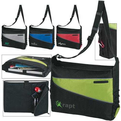 2 Tone Computer Messenger Bag