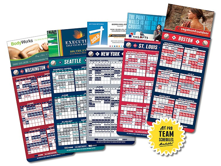Magna-Card Business Card Magnet - Baseball Schedules (3.5 x 9)