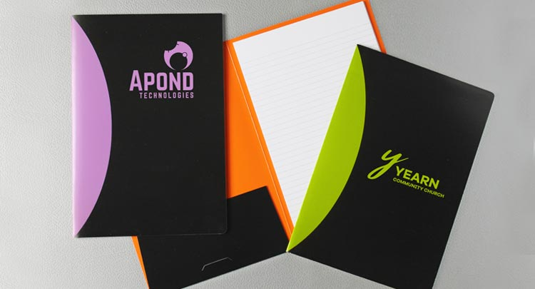 Colorful splash notepad folios with your logo