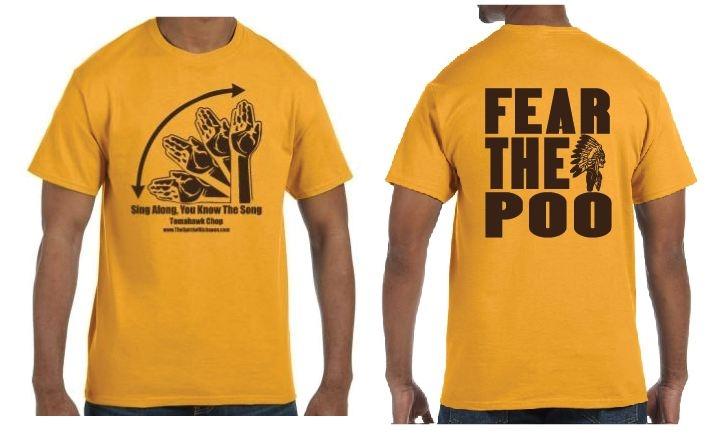 ae7dbafc CLEARANCE- 3XL Basic Gold T-Shirt - Brown Tomahawk Chop