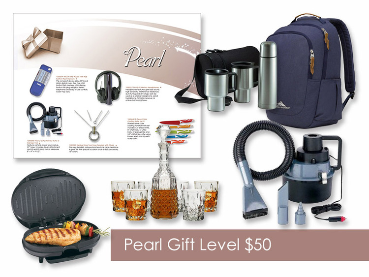 $50 Gift of Choice (Pearl Level) Gift Booklet