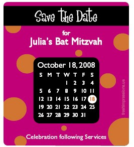 3 5x4 Bat Mitzvah Magnet With Printed Envelopes Layout Fi 05