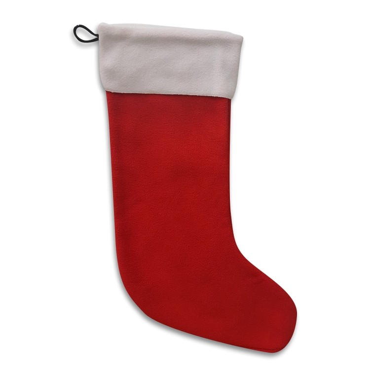 Red Holiday Stocking, 20 Long, Blank