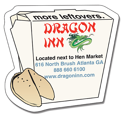 Delivery Magnet - Chinese Take-Out Box Shape (2.75x2.625) - 25 mil.