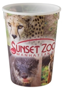 12 oz. Classic Smooth Walled Plastic Stadium Cup with our RealColor360 Imprint