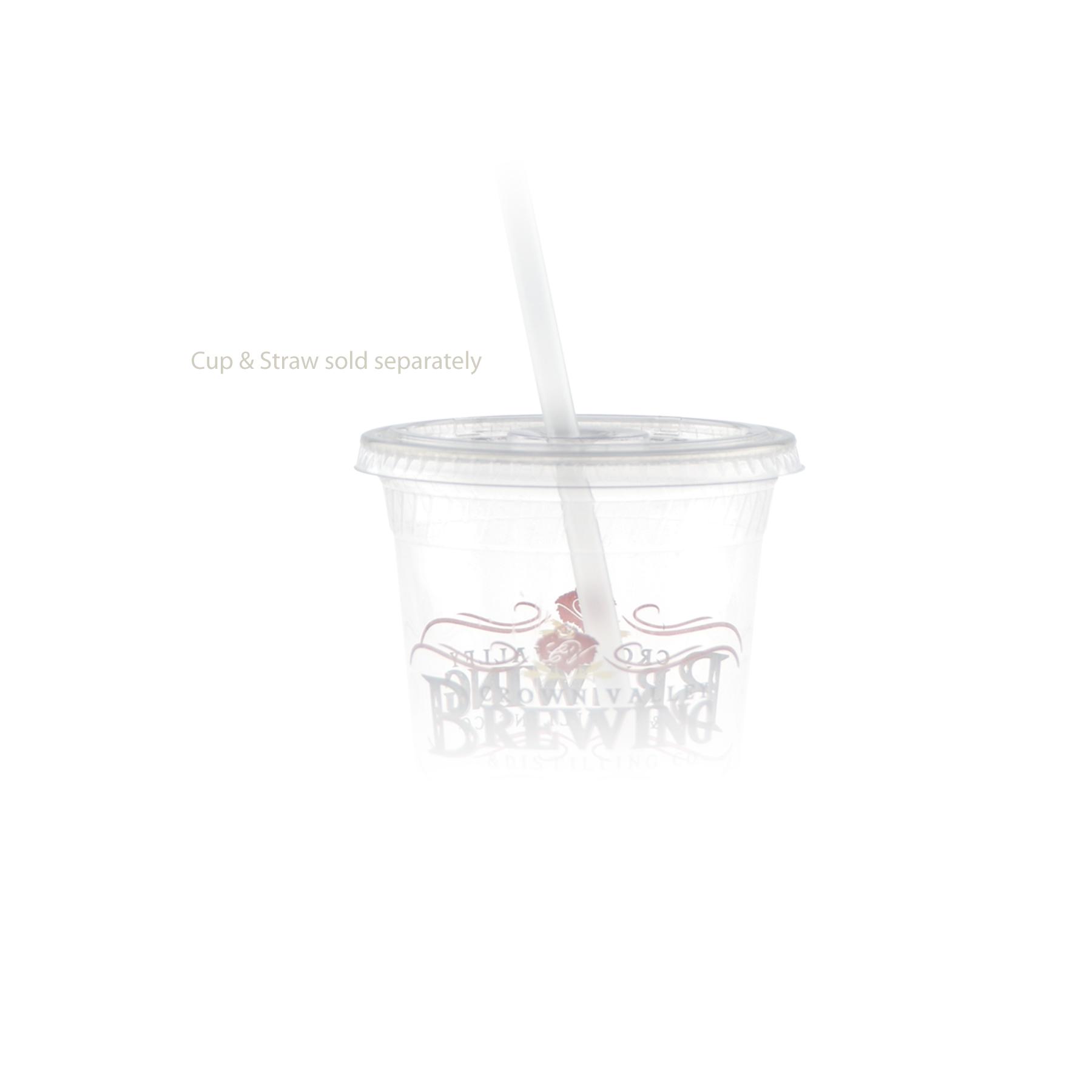 16/24 oz Eco-Friendly Plastic Cup Straw Slot Lid