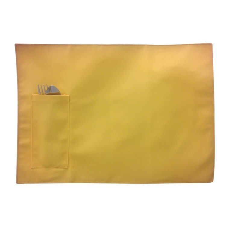 Twill Place Mat With Pocket, Blank