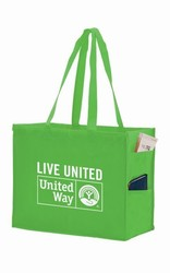 16 x 12 Non Woven Tote Bag with Side Pockets