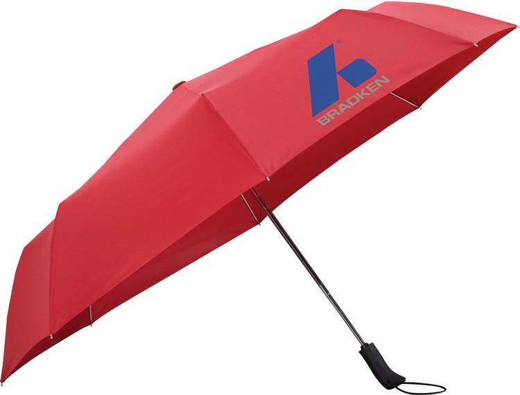54 Inch Auto Open/Auto Close Folding Umbrella CLEARANCE Red