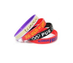 Custom Printed Solid Silicone Wristbands