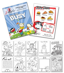 Activity Coloring Book - 8.5x11 - (12-Page General Use)