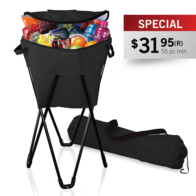 INSULATED BEVERAGE COOLER TUB W/ STAND