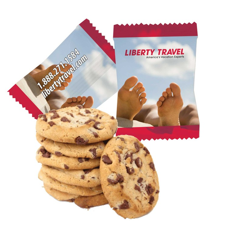 Custom Individually Wrapped Large Chocolate Chip Cookie - cookie