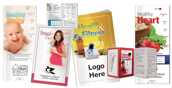 Healthy Brochures Literature Custom Logo Imprinted