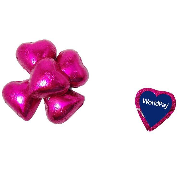 Individually Wrapped Candy Hearts - Purple