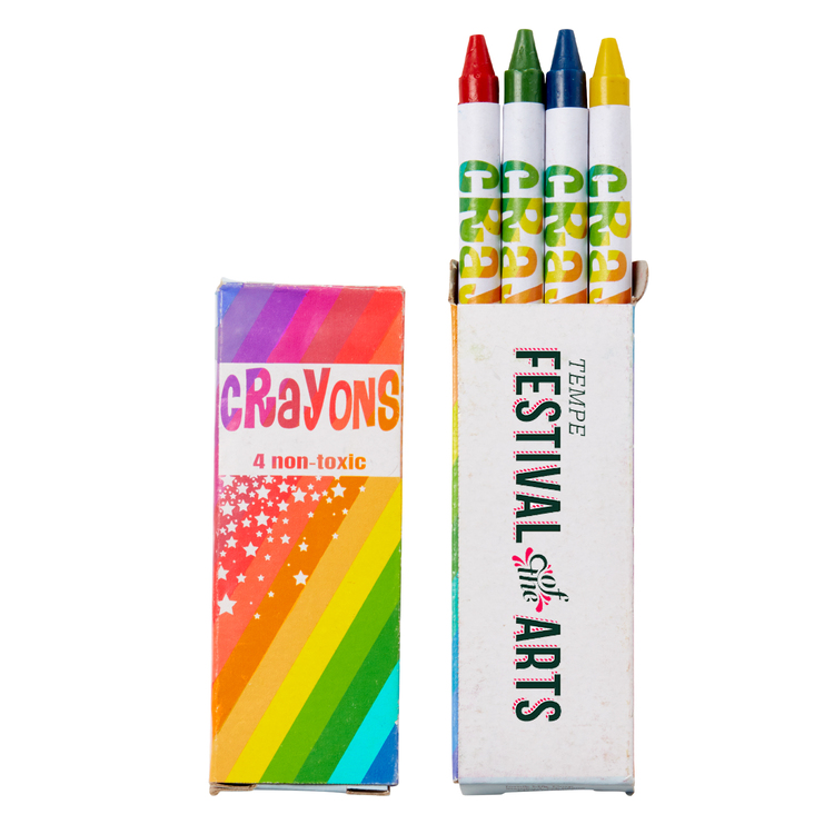 4 Count Pack of Colorful Crayons