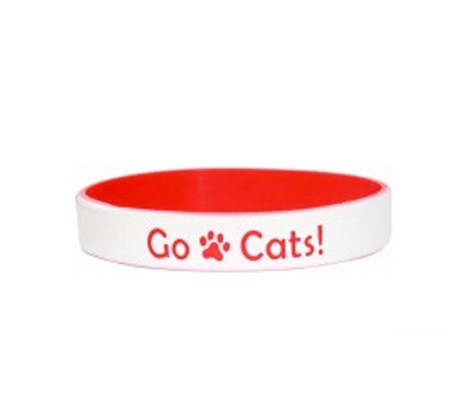 Color Coated - Two Color Dual Layered Wristbands