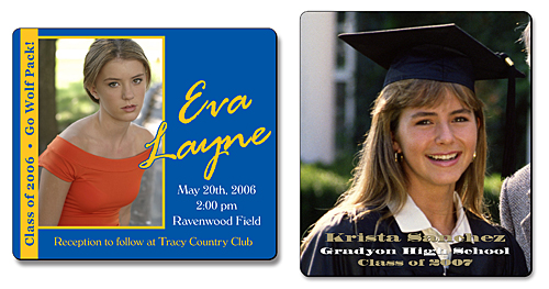 Graduation Announcement Magnet - 3.5x4 Round Corners - 25 mil.