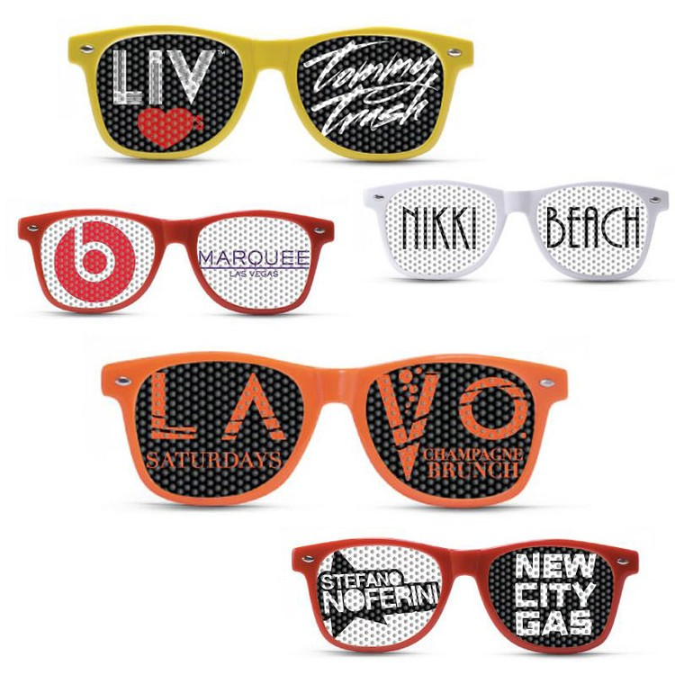 Promotional Sunglasses with Custom Logo Lenses
