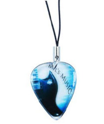 Guitar Pick / Plectrum, Standard Size Pick on Cell Phone Charm