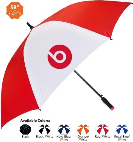 58 Inch Auto Open Ultra-Value Golf Umbrella SALE - HALF OFF ARTWORK SETUP Until May 31!