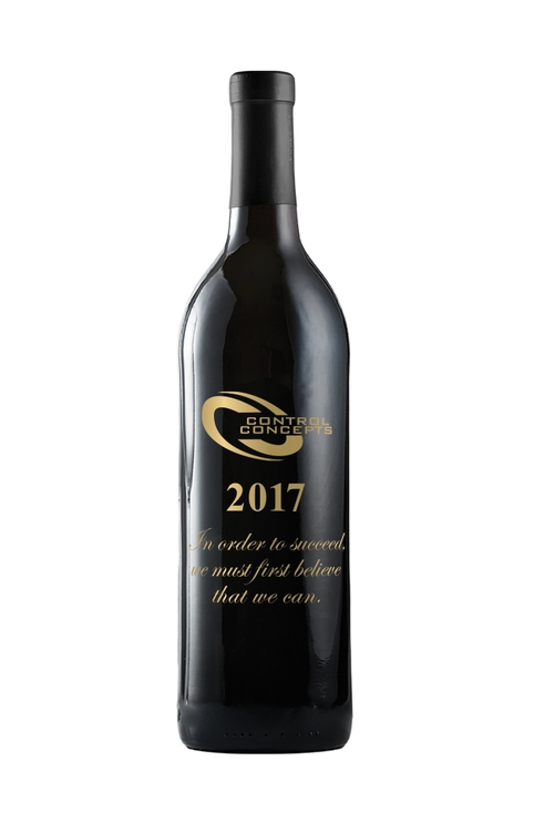 Etched Cabernet Sauvignon Red Wine - Etching option; One color fill