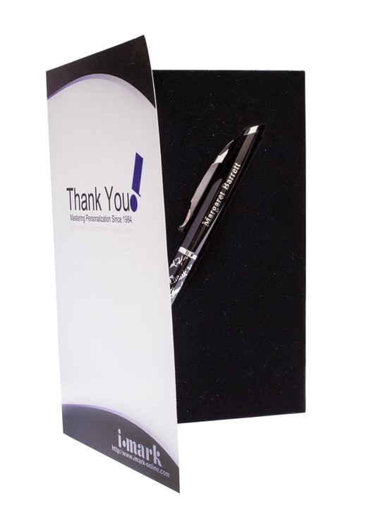 Igraci (TM) Twist Action Ballpoint Pen With Thank You Card