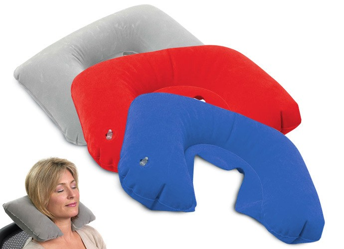 Best Sale U Shape Flocking Inflatable Travel Neck Pillow Dt0392