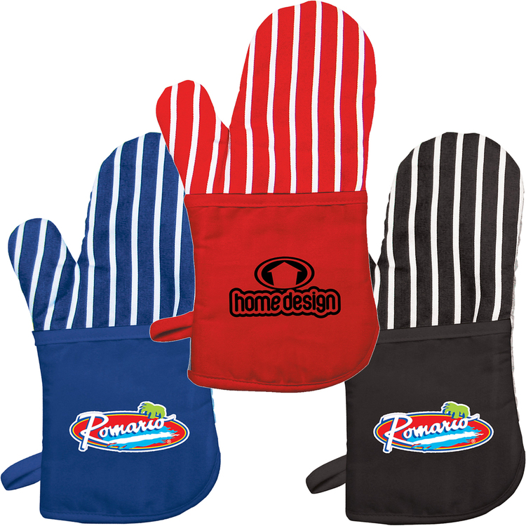 Oven Mitt with Stripes - Promotional Products