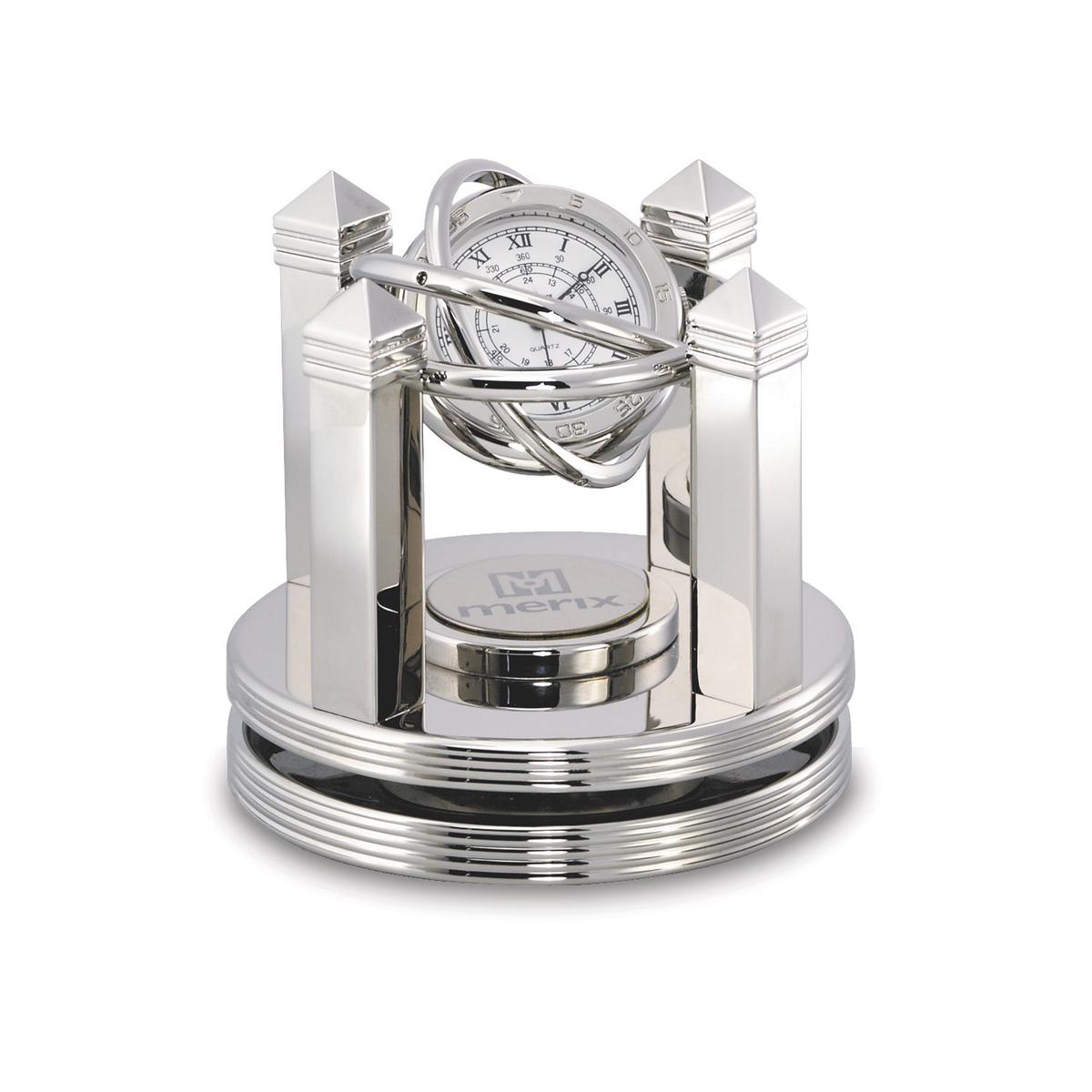 Celestial Silver Gimbal Clock