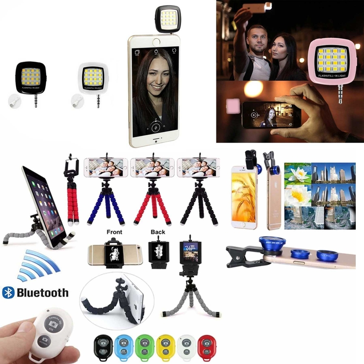 iBank® Tripod+Bluetooth Shutter+Flashlight+Fisheye Lens