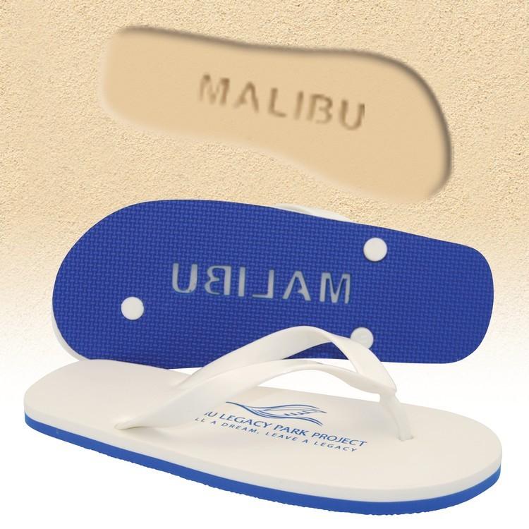 Brand Gear™ Palisades™ Deluxe Flip Flop Sandals Logo Footprint