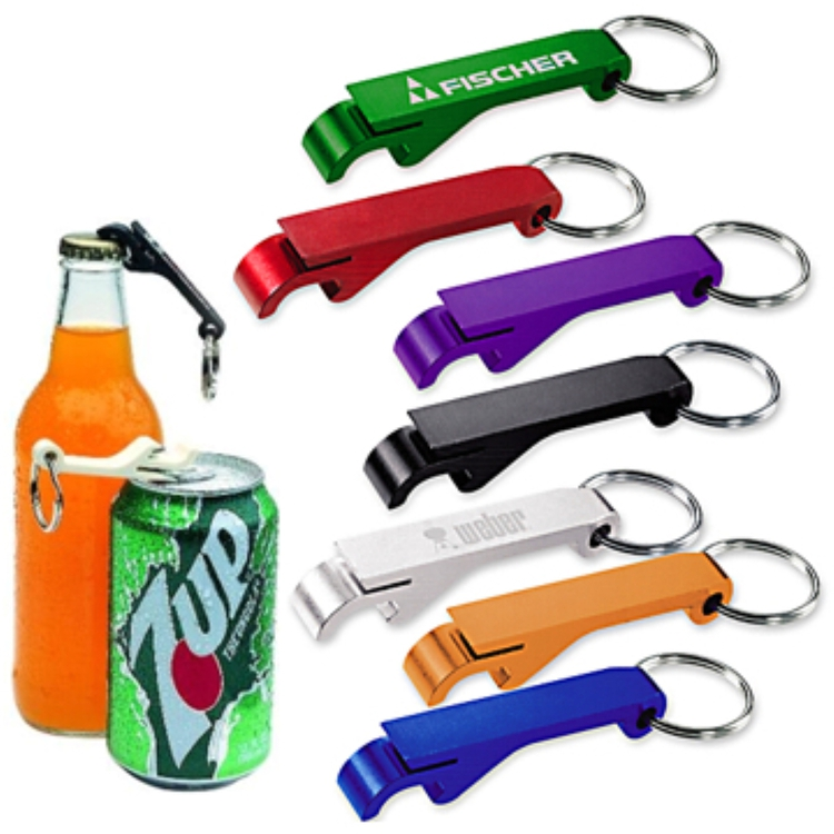 Aluminium Bottle And Can Opener Keychain