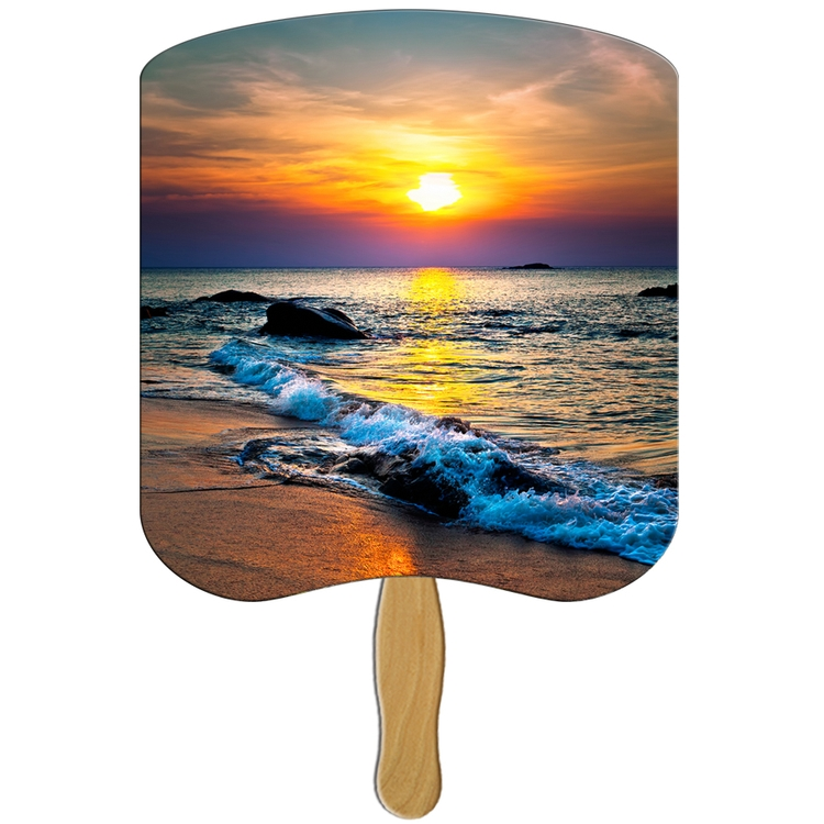 Sunset Fan - Full Color - Laminated