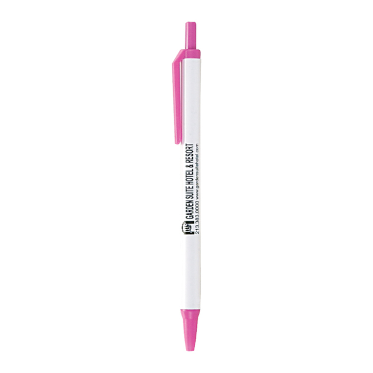 Classic Click Pen w/White Barrel