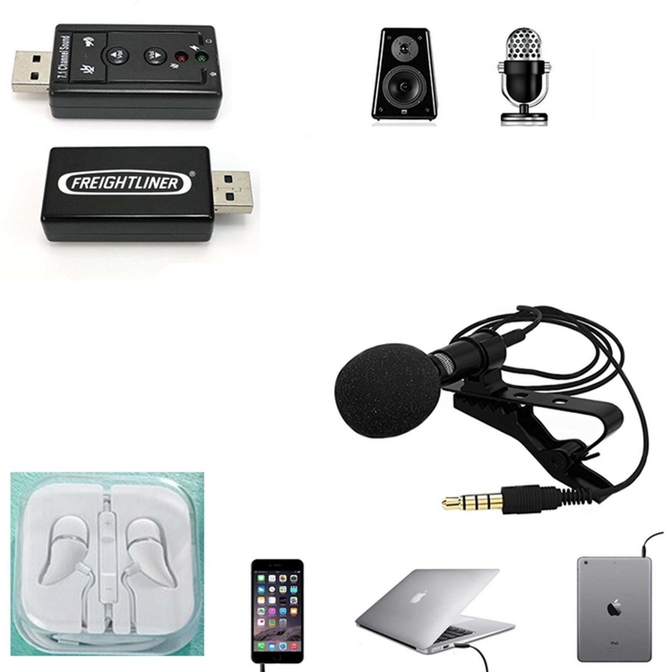 iBank® USB 7.1 Surround Sound Adapter + Mini Microphone + Headphones