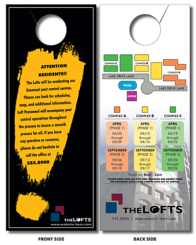Door Hanger - 4x10 UV-Coated (1S) Extra-Thick with Slit - 14 pt.