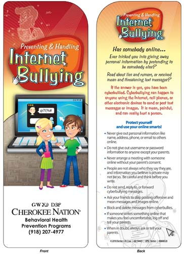 Preventing & Handling Internet Bullying Bookmark