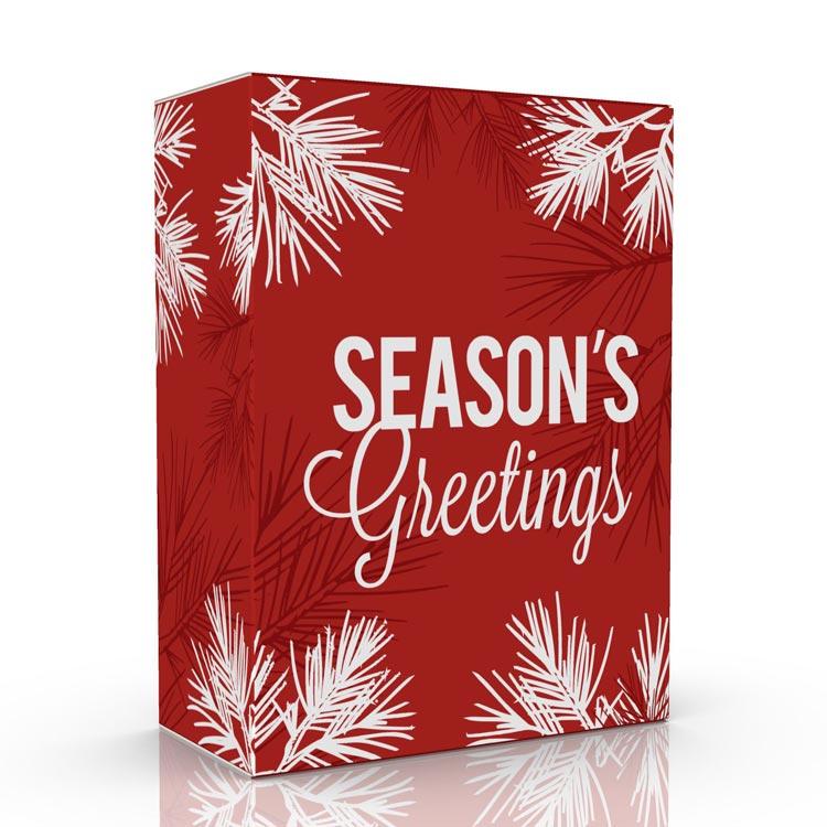 Season's Greeting Pine Bough Tuck Box
