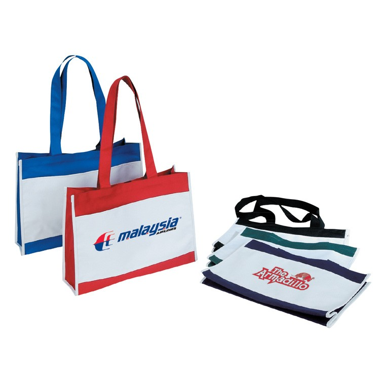600D Polyester Tote Bag w/Velcro