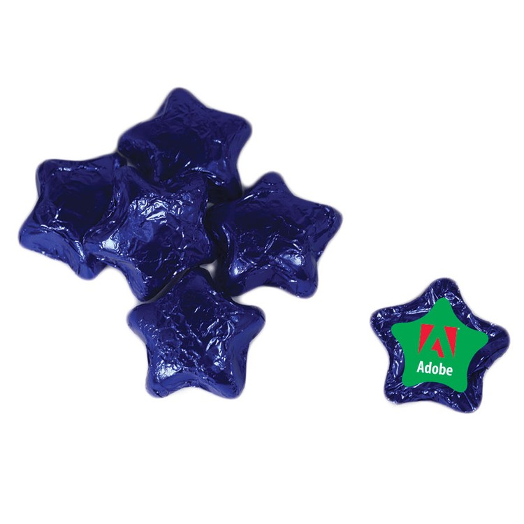 Individually Wrapped Candy Stars - Blue