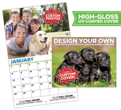 13 Month Custom Photo Appointment Wall Calendar - High Gloss UV Coated Cover