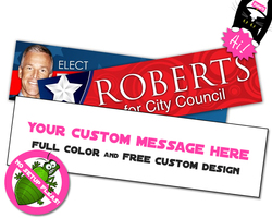 Sticker / Decal - 3x11 Inch Rectangle Shape - UV Coated Removable Vinyl