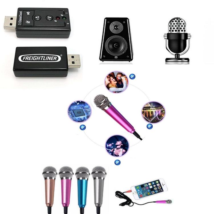 iBank® USB 7.1 Surround Sound Adapter + Mini Microphone